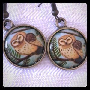 Owl earrings vintage